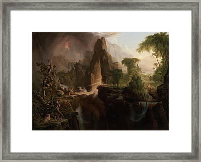 Expulsion From The Garden Of Eden Framed Print