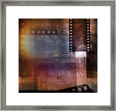 Film Strips Framed Print