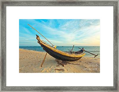 Fisherman Boat Framed Print by MotHaiBaPhoto Prints