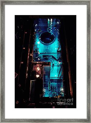 Flamanville Nuclear Power Plant Framed Print