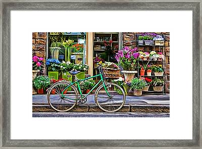 Flower Bike Collection Framed Print