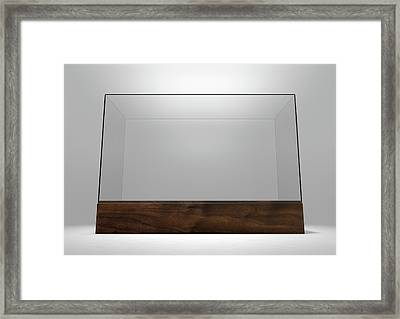 Glass Display Case Framed Print by Allan Swart