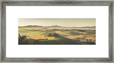 Golden Tuscany Framed Print by JR Photography