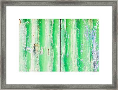 Green Metal Framed Print