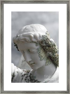 Framed Print featuring the sculpture Grieving Angel by Yurix Sardinelly