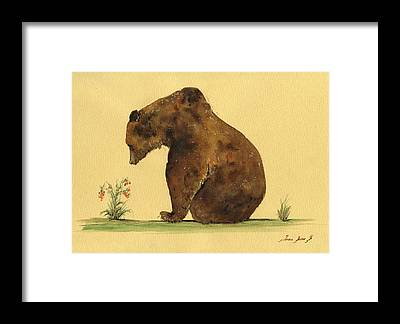Grizzly Bear Framed Prints