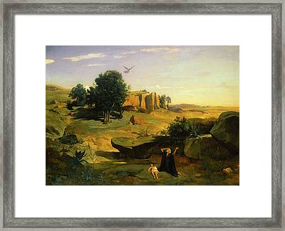 Hagar In The Wilderness Framed Print