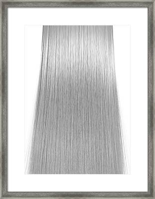 Hair Perfect Straight Framed Print