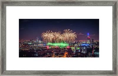 Happy New Year London Framed Print