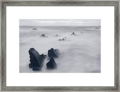 Hartland Quay - England Framed Print by Joana Kruse