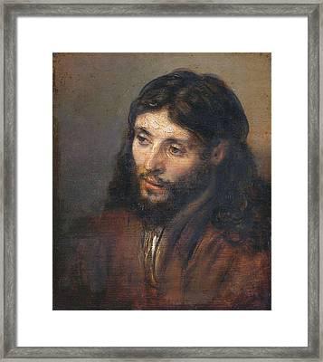 Head Of Christ Framed Print
