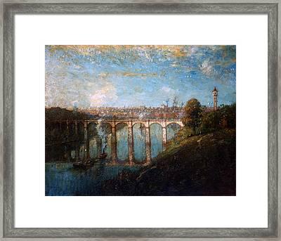 High Bridge, New York Framed Print by Henry Ward Ranger