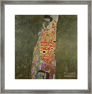Hope II Framed Print by Gustav Klimt
