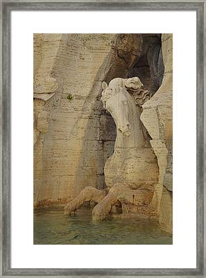 River Fountain Horse Framed Print by JAMART Photography