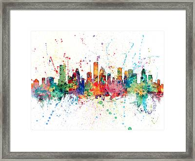 Houston Texas Skyline Framed Print