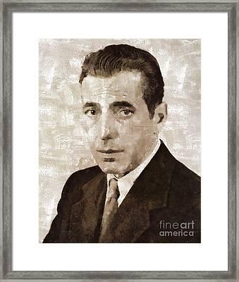 Humphrey Bogart Vintage Hollywood Actor Framed Print by Mary Bassett