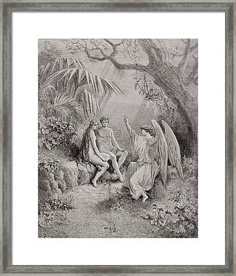 Illustration By Gustave Dore 1832-1883 Framed Print