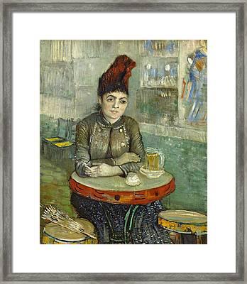 In The Cafe Agostina Segatori In Le Tambourin Framed Print