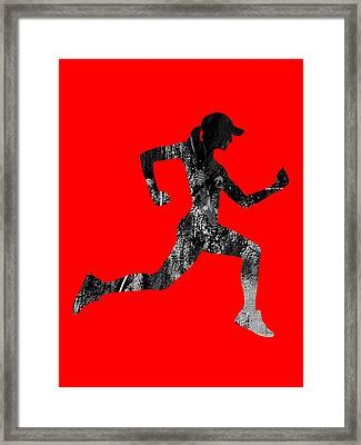 iRun Fitness Collection Framed Print by Marvin Blaine