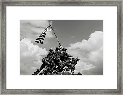 Iwo Jima Washington Dc Framed Print by Brandon Bourdages
