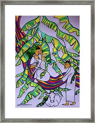Kintu And Nambi A Ugandan Folktale Framed Print by Gloria Ssali
