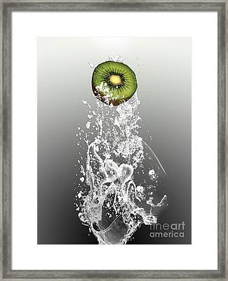 Kiwi Splash Framed Print