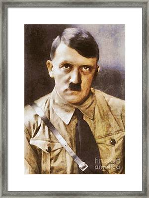 Leaders Of Wwii, Adolf Hitler Framed Print