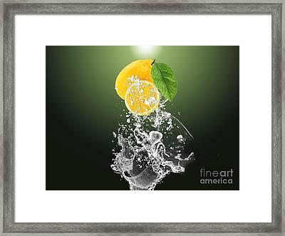 Lemon Splast Framed Print by Marvin Blaine