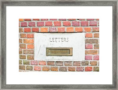 Letterbox Framed Print by Tom Gowanlock