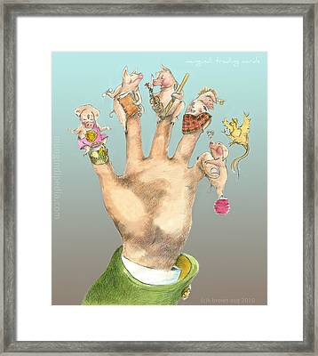 5 Little Pigs -icon Back Card For Mungindi Trading Cards Framed Print by Tom Kerr