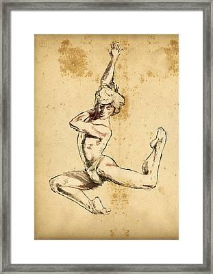 Male Dancer Framed Print by H James Hoff