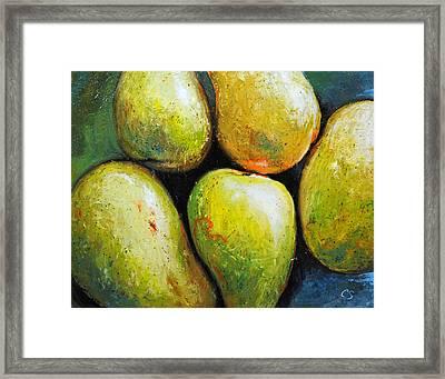 5 Mangos Framed Print