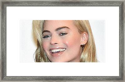 Margot Robbie Portrait Framed Print by Best Actors