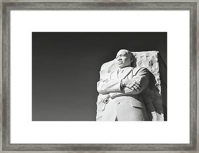 Martin Luther King Statue Framed Print by Brandon Bourdages