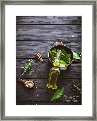 Mediterranean Ingredients Framed Print by Mythja Photography