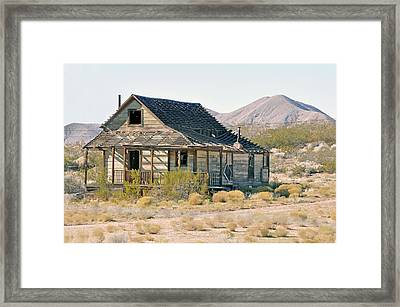 Mining Town Framed Print by Larry Holt