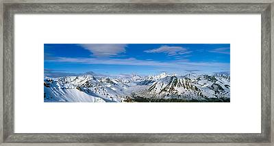 Mountains And Glaciers In Wrangell-st Framed Print