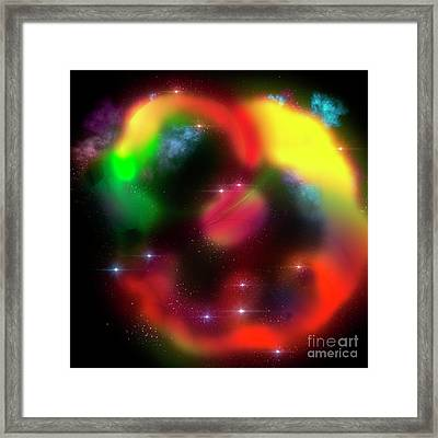 Multicoloured Abstract Pattern  Framed Print by Humorous Quotes