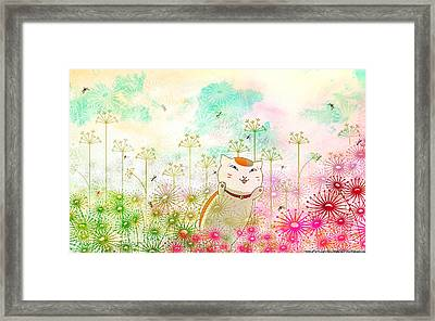 Natsume's Book Of Friends Framed Print