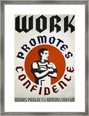 New Deal: Wpa Poster Framed Print by Granger