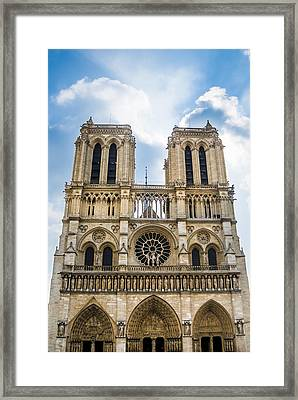 Notre Dame Cathedral In Paris Framed Print