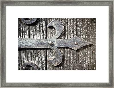 Old Hinge Framed Print by Tom Gowanlock