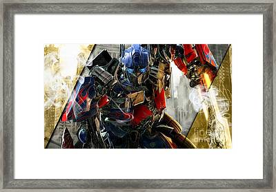 Optimus Prime Transformers Collection Framed Print