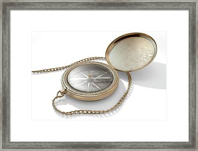 Ornate Pocket Compass Framed Print