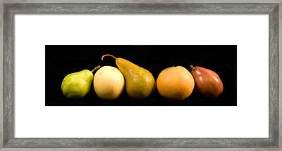 5 Pears Framed Print by Cabral Stock