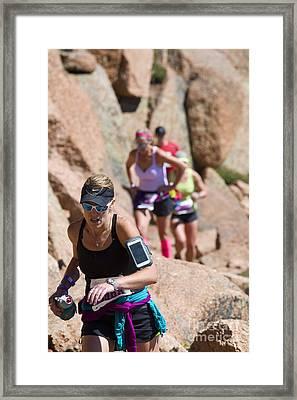 Pikes Peak Marathon And Ascent Framed Print by Steve Krull
