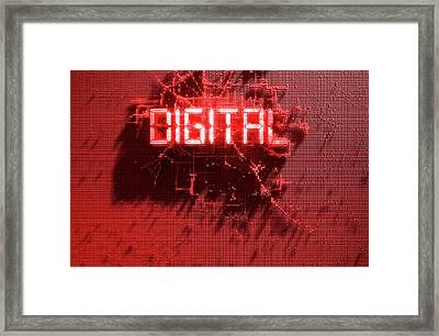 Pixel Digital Concept Framed Print