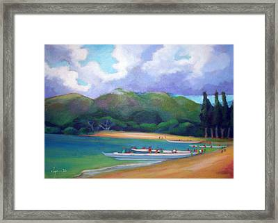 5 P.m. Canoe Club Framed Print