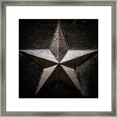 5-pointed Star Framed Print