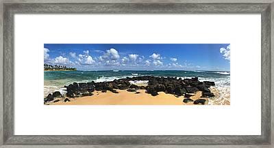 Poipu Beach Kauai Framed Print